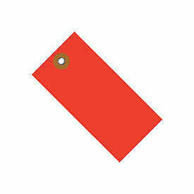 "#8 Tyvek Tag 6-1/4"" x 3-1/8"", 100 Pack, Red"
