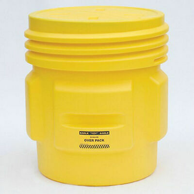 EAGLE Poly Overpack/Salvage Drum - 65-Gallon Capacity - Screw-On Lid