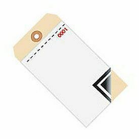 3 Part Blank W/Carbon Inventory Tag, 0 - 499, 500 Pack