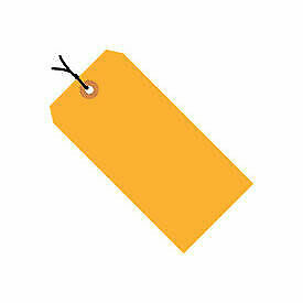 "#2 Strung Tag Pack 3-1/4"" x 1-5/8"", 1000 Pack, Orange Fluorescent"