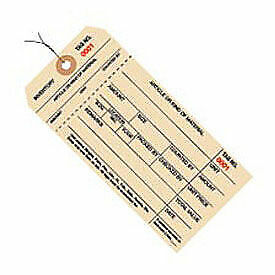 1 Part Stub Style Wired Inventory Tag, 4000-4999, 1000 Pack
