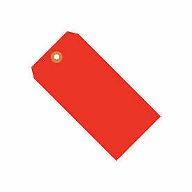 "#3 Tag Pack 3-3/4"" x 1-7/8"", 1000 Pack, Red Fluorescent"