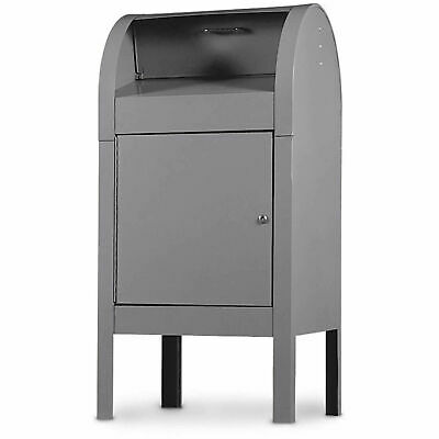 "Curbside Collection Box, Steel, 22-1/2""W x 22-1/2""D x 48""H, Grey"