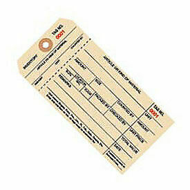 1 Part Stub Style Inventory Tag, 7000 - 7999, 1000 Pack