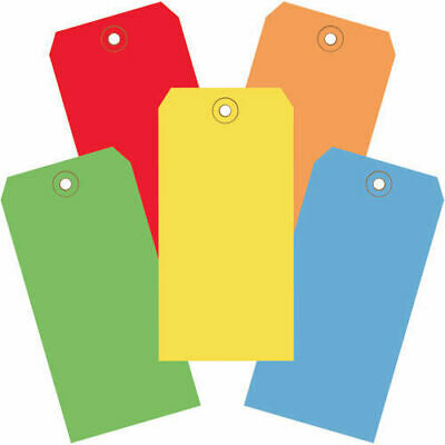 "6-1/4""x3-1/8"" 13Pt. Shipping Tags, Assorted Color, 1000 Pack"