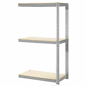 """Expandable Add-On Rack with 3 Levels Wood Deck, 750lb Cap Per Level, 72""""W x 36""""D"""