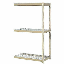 """Expandable Add-On Rack with 3 Levels Wire Deck, 800lb Cap Per Level, 96""""W x 36""""D"""