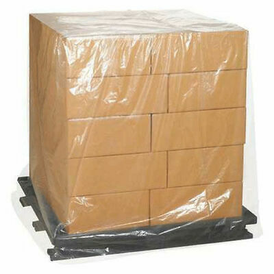 """3 Mil Clear Pallet Covers, 48"""" x 48"""" x 102"""", 50 Pack, PC528"""