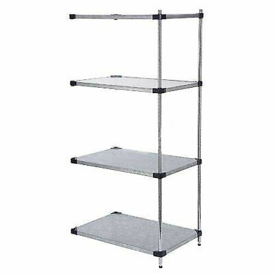 Galvanized Steel Solid Shelving Add-On, 36x24x63