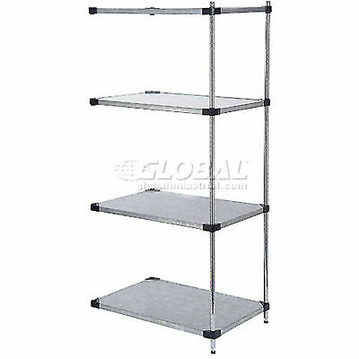 """5 Tier Solid Galvanized Steel Shelving Add-On Unit, 36""""W x 24""""D x 63""""H"""