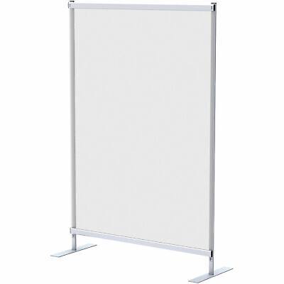 4'W x 6'H Floor Supported Portable Personal Safety Partition, Clear