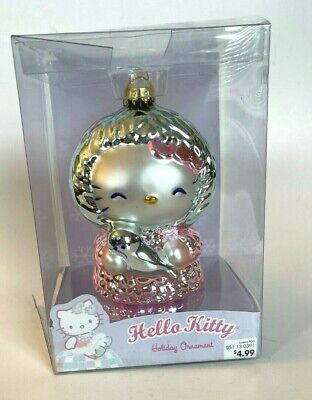Hello Kitty Sanrio 2005 Glass Holiday Ornament Eskimo Christmas