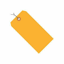 "#4 Wired Tag Pack 4-1/4"" x 2-1/8"", 1000 Pack, Orange Fluorescent"