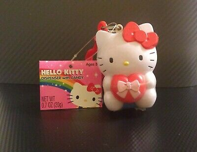 Hello Kitty dispenser with candy, NIP, NWT - Version 1, holding heart