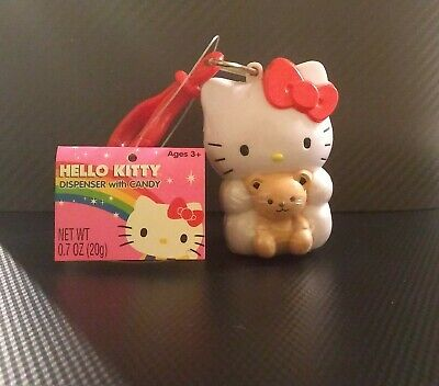 Hello Kitty dispenser with candy, NIP, NWT - Version 2, holding bear