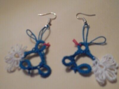 Tatted Star Earrings by Dove Country Tatting