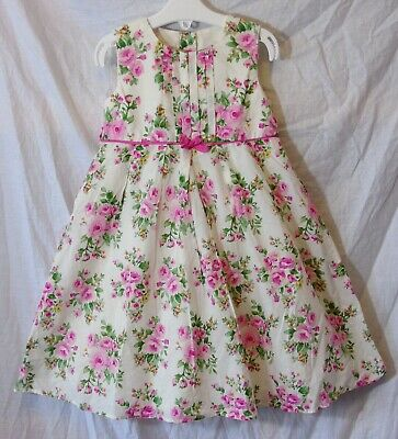 BNW0T Baby Girls Vintage Style Floral Cotton Dress  Age 18-24 Months Only