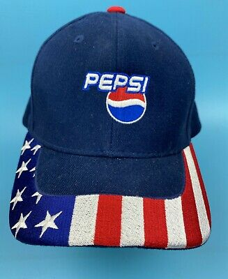 New Baseball Hat Soda Pepsi Logo Printed Caps One Size Fits All Adjustable #A