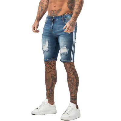 Mens Ripped Denim Shorts Brave Soul /'Holiday/' Blue Wash Faded Jeans Pants Summer