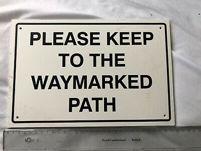 Please keep to footpath sign 5142WDKGR Farm and countryside signs