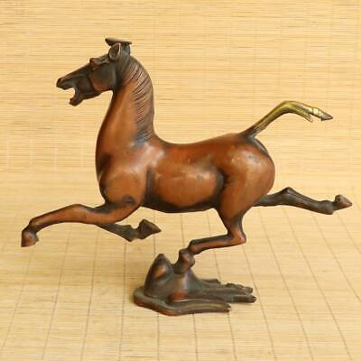 Details about  /Exquisite China Ancient Gilt Copper Horse Riding Swallow Statue