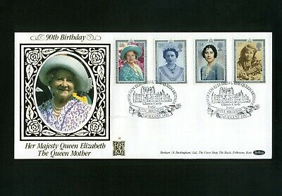 GB 1990  2nd Aug  BENHAM GOLD 500 No.56 Queen Mothers 90th  Glamis SHS 39A  (s)