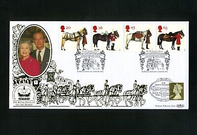GB 1997  8th July BENHAM GOLD SpG35 All the Queens Horses set London SW1 SHS (s)