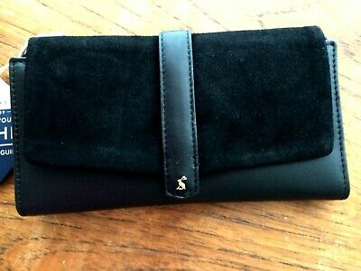 JOULES LADIES AYCLIFFE Suede & Leather Envelope Purse