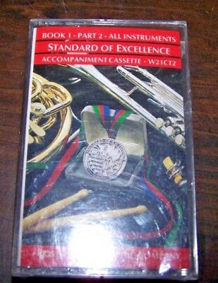 STANDARD OF EXCELLENCE - CASSETTE for BOOK 1, PART 2 - ALL INSTRUMENTS - New!