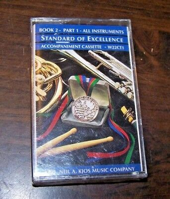 STANDARD OF EXCELLENCE- CASSETTE for BOOK 2, PART 1 - ALL INSTRUMENTS - New!