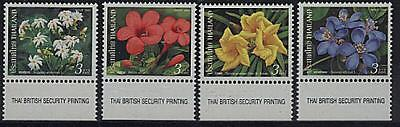 THAILAND 2002 FLOWERS 4 STAMPS SET MNH !