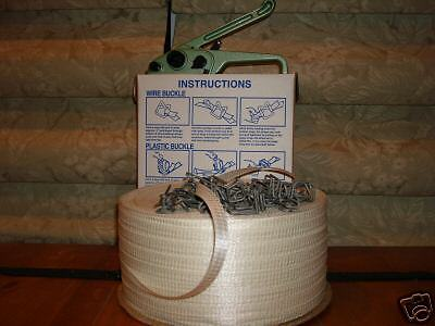 """Polyester Cord Strapping Kit 5/8 """"+buckles+tools"""