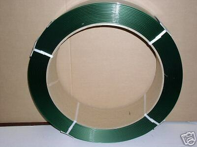 "Polyester Strapping 5/8""x.040x4,000 ft 16x6 Green"