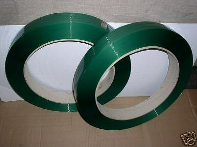 """Polyester Strapping 5/8"""" x .025 2,200 ft 16x3 Green"""