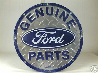 Genuine Ford Parts`Round Metal Sign,New Sealed-:>Free To US