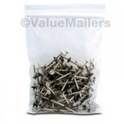 100 10x12 Clear Plastic Zipper Poly Locking Reclosable Bags 2 MiL