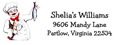 Chef Cook Address Labels