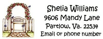 Garden Gate Country Address Labels