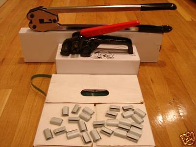 """Mini Polyester Strapping Kit 1/2""""-- 5/8"""" +seals + tools"""