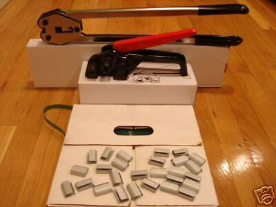 """Mini Polyester Strapping Kit 1/2"""" x .025""""+seals + tools"""