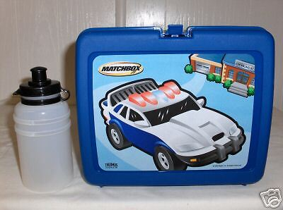 Matchbox-Car`Plastic Lunchbox & Juice Bottle`New With Paper->Free To US
