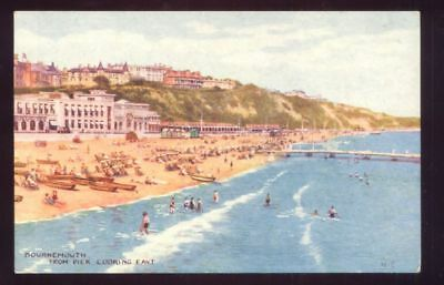Bournemouth From Pier Looking East Vintage Postcard