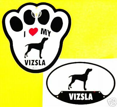 Vizsla- Decal & Window Pawprint W/ Suction Cup Set