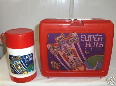 Super Bots`Plastic Lunchbox & Thermos Set->Free To US
