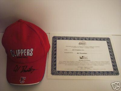 Al Thornton Los Angeles Clippers Rookie Autographed Hat