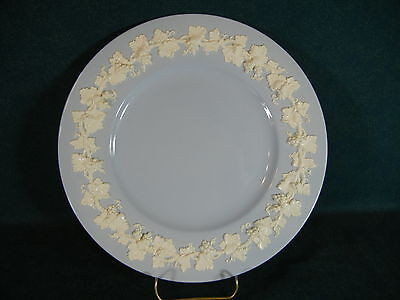 "Wedgwood Cream Color CC on Lavender Smooth Edge Large 10 5/8"" Dinner Plate"