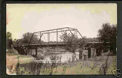 Correctionville Iowa 1910 RPPC Steel Wagon Bridge IA