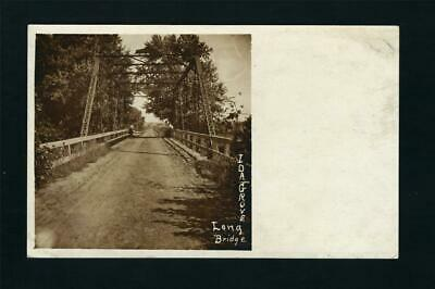 Ida Grove Iowa c1905 RPPC Long Bridge RP IA