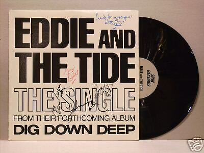 "5 AUTOGRAPH Eddie & The Tide Just Gotta Rock 12"" SF"