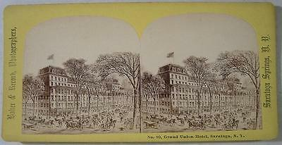 1870's~SV~Great View of Union Hotel~Saratoga Springs,NY